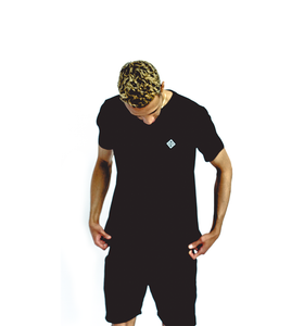 Black Short Sleeve T-Shirt Diamond Essential
