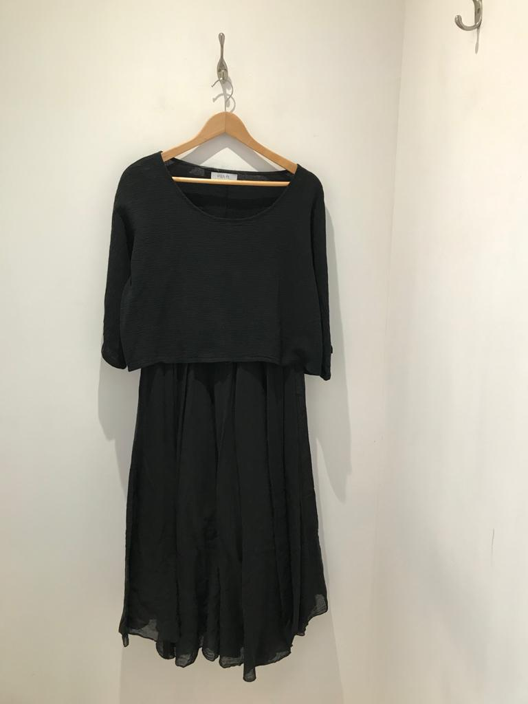 Cotton dress with overtop