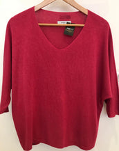 Light Weight Cotton Mix V Neck Jumper