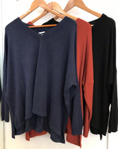 Fine Knit Easy Fit V-Neck
