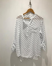 White spotty shirt with pocket