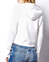 Distressed Rib Sleeve Zip Through