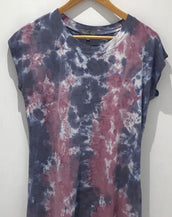Tie Dye Capped Sleeve T Shirt