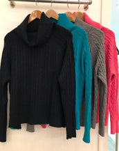 Cable Cowl Neck Jumper