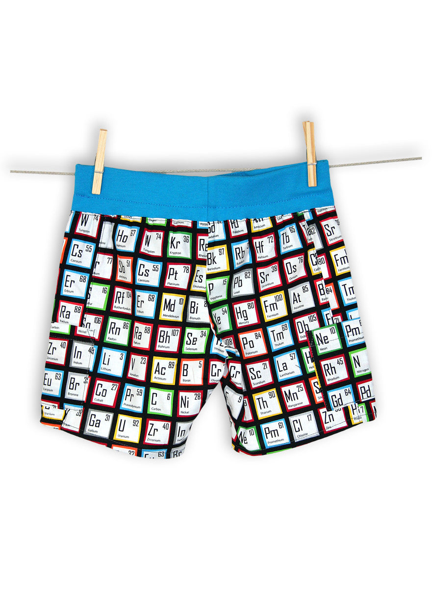 Blue chemistry periodic table unisex pocket shorts ziamoo blue chemistry periodic table unisex pocket shorts gamestrikefo Gallery