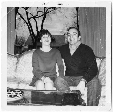 Black and White Photo of Michelle's Parents