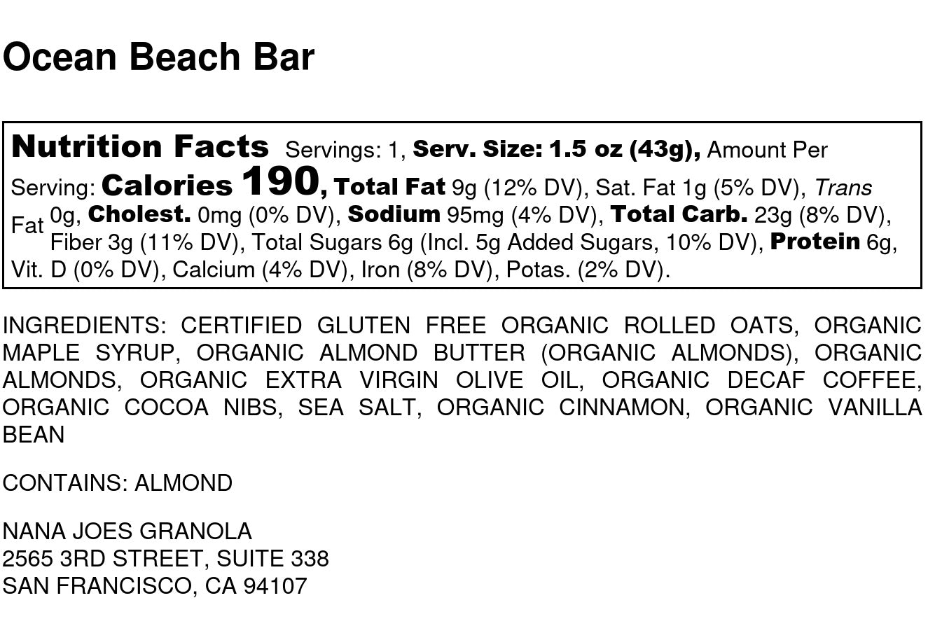 nutrition facts image