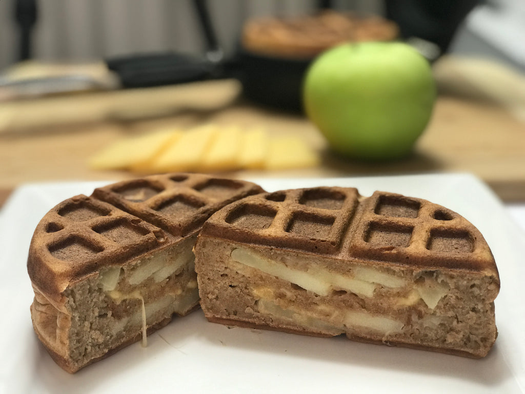 Apple and Gouda Cheese Stuffed Waffle