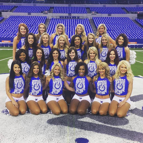 indianapolis colts cheerleaders entire team