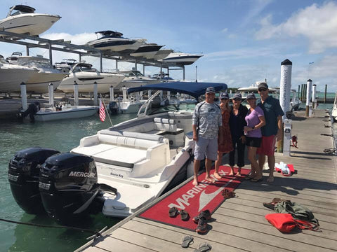brand new sea ray boat family pic