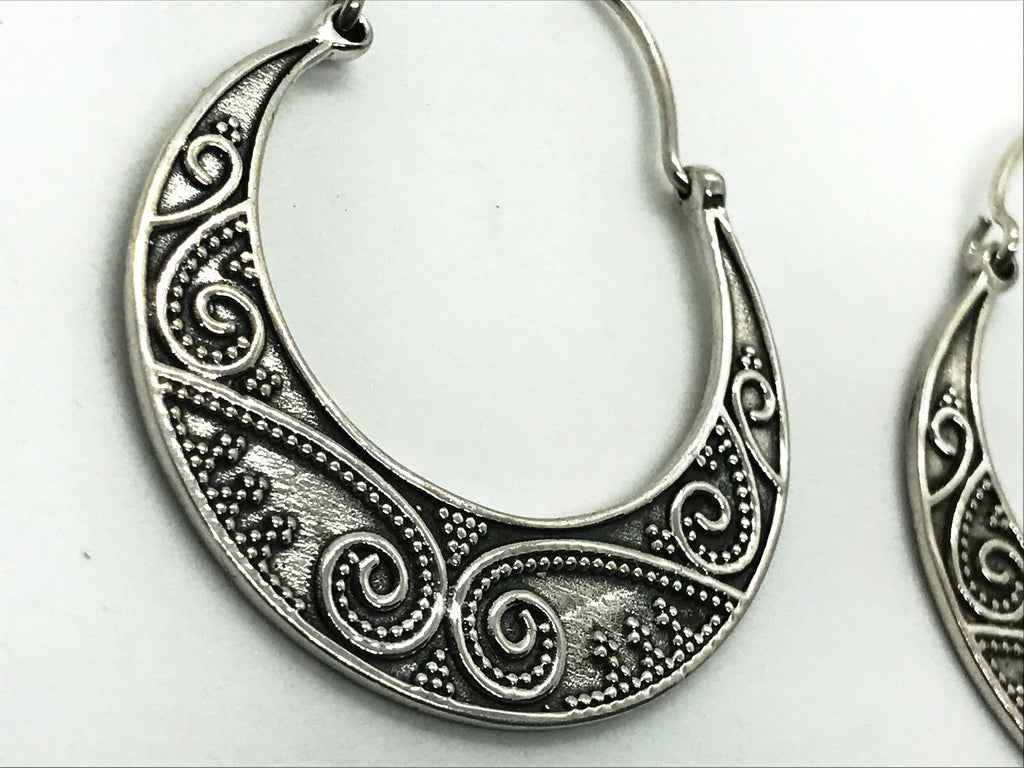 desert hippie silver Bohemian tribal earrings