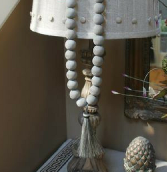 Driftwood Gray Home Decor Wooden Beads with Horsehair Tassel