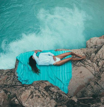 Seafoam XL Blanket Sand Cloud Beach Towel Turkish Cotton