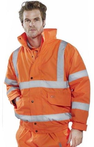 HI VIS BOMBER JACKET - ORANGE