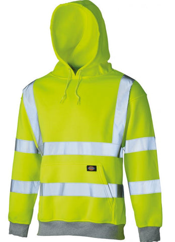 DICKIES HIGH VISIBILITY HOODIE - YELLOW