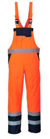 CONTRAST BIB AND BRACE PORTWEST - ORANGE