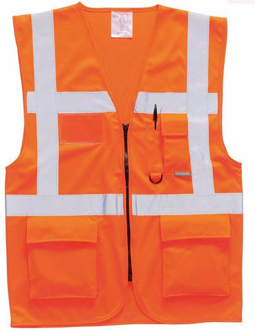 HI VIS EXECUTIVE VEST ORANGE - PORTWEST