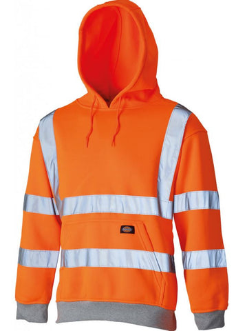DICKIES HIGH VISIBILITY HOODIE GO/RT - ORANGE
