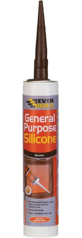 EVERBUILD GENERAL PURPOSE SILICONE BROWN 310ML