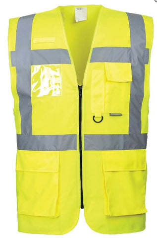 HI VIS EXECUTIVE VEST YELLOW - PORTWEST