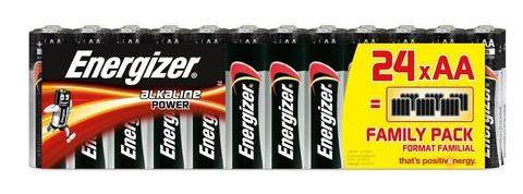 ENERGIZER ALKALINE POWER AA BATTERIES | 24 PACK