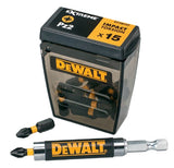 DEWALT 25MM PZ2 IMPACT TORSION BITS FLIP BOX OF 15