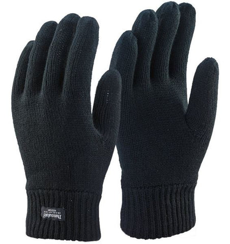KNITTED GLOVE THINSULATE BLACK
