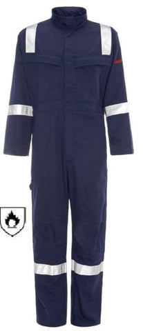 WELD-TEX® PLUS FR ANTISTATIC COVERALL - NAVY
