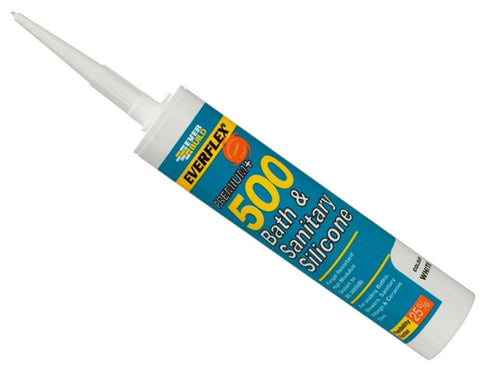 EVERBUILD BATH AND SANITARY SILICONE SEALANT CLEAR 310ML