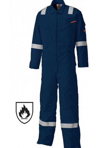 DICKIES LIGHTWEIGHT PYROVATEX COVERALL - NAVY