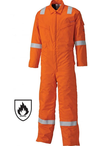 DICKIES LIGHTWEIGHT PYROVATEX COVERALL - ORANGE