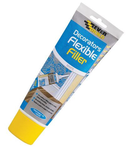 EVERBUILD FLEXIBLE FILLER SQUEEZY TUBE WHITE