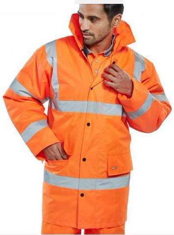HI VIS CONSTRUCTOR JACKETS - ORANGE