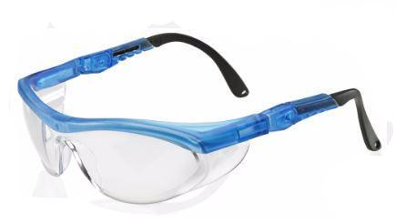 SAFETY SPECTACLES UT CLEAR/ BLUE