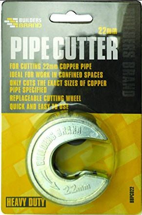 BUILDERS BRAND PIPE CUTTERS 22MM