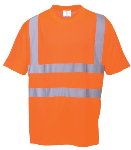 HI VIZ T-SHIRT CREW NECK ORANGE