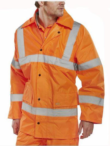 HI VIS JACKET LIGHTWEIGHT ORANGE