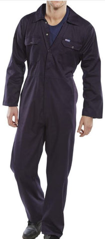 STANDARD BOILERSUIT STUD FRONT NAVY