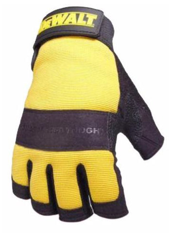 DEWALT FINGERLESS SAFETY GLOVES, PAIR YELLOW/BLACK