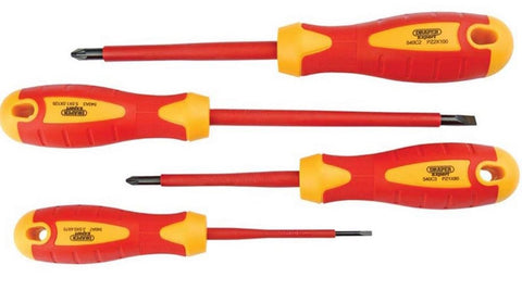 DRAPER EXPERT 4 PIECE FULLY INSULATED SCREWDRIVER SET