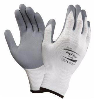 WORK GLOVES ANSELL HYFLEX FOAM WHITE/GREY