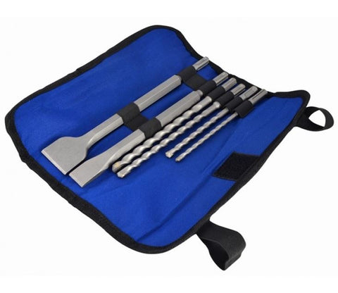 FAITHFULL SDS CHISELS & DRILL BITS SET 6 PIECE