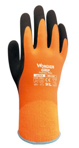 GRIP GLOVE THERMO PLUS WATERPROOF LATEX ORANGE
