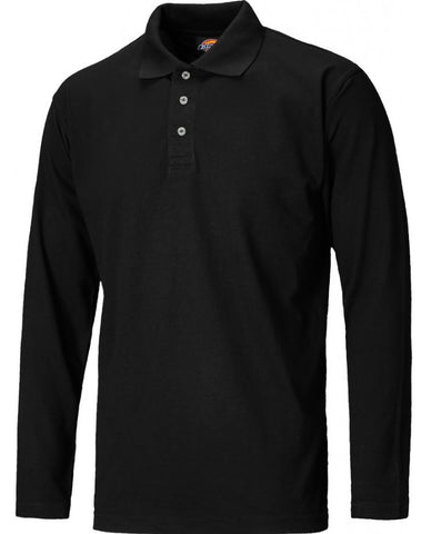 LONG SLEEVE POLO SHIRT BLACK DICKIES
