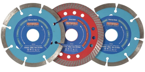 FAITHFULL 115MM/4.1/2″ DIAMOND BLADE BONUS PACK