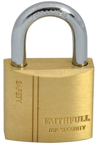 FAITHFULL BRASS PADLOCK 30MM 3 KEYS