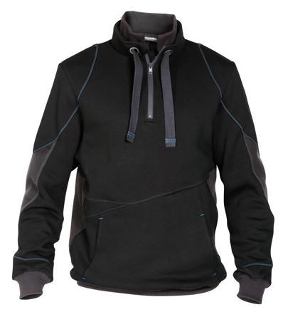 DASSY® SWEATSHIRT TWO-TONE SLR BLACK/GREY
