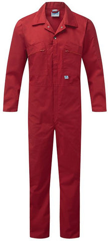 COVERALL ZIP FRONT RED