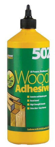 EVERBUILD 502 ALL PURPOSE WEATHERPROOF ADHESIVE 1 LITRE