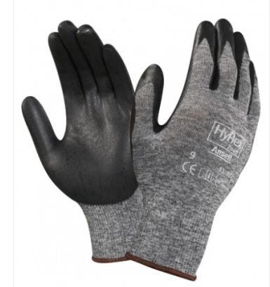 WORK GLOVES ANSELL HYFLEX GREY/BLACK